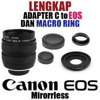 Fujian 35mm F1.7 Cctv Movie Lens + C Mount To Eos Canon + Macro Ring
