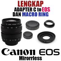 Fujian 50mm F1.4 Cctv Movie Lens + C Mount To Eos Canon + Macro Ring