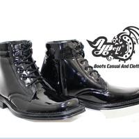 Sepatu PDH TNI Bertali Sleting - Sepatu Boot Pria- 13-NN