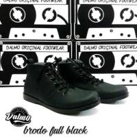 Sepatu Boots Pria ORIGINAL Dalmo Brodo Full Black