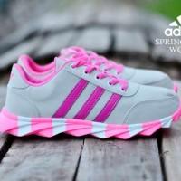 sepatu adidas springblade woman made in vietnam greey pink