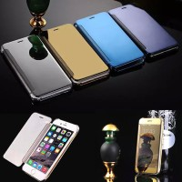 Casing HP Iphone 5 5s 6 6s 6 Plus Elegant Flip Cover Mirror