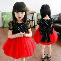 aop dres anak shan2 shan polka kids / dress baju perempuan 3 4 5 tahun
