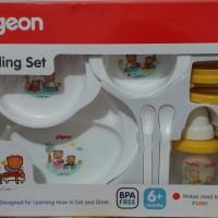 Pigeon Feeding Set w/ Training Cup Baby | Peralatan Makan Bayi Besar