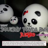 Squishy, Paket Squishy Panda Bun Jumbo + Baby Bun, Squishy Bakpao