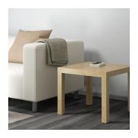 1.IKEA LACK MEJA SAMPING MINIMALIS WARNA BIRCH, MEJA TAMU 55 X 55 CM