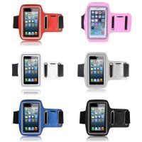 Neoprene Sports Armband Case with Key Storage iPhone 4/4s Light Blue