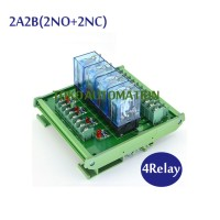 4 Channel OMRON intermediate relay high power module LY2NJ-DC12V DC24V