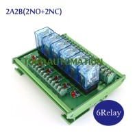 6 Channel OMRON intermediate relay high power module LY2NJ-DC12V DC24V