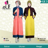 Gamis Elif GE 03 / Dress Muslim Murah