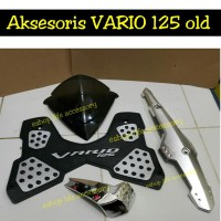 Jual Paket aksesoris vario 125 pgmfi OLD visor karpet knalpot air filter Murah