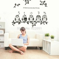 Jual WALLL STICKER 50X70 JM8353 BLACK OWL N TWINGS Murah