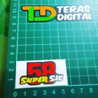 Cutting Sticker 58 Super SIC kecil, Marco Simoncelli