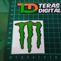 Cutting Sticker Logo M Monster Outline