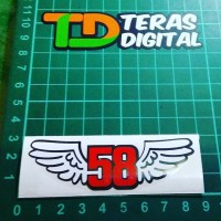 Cutting Sticker 58 Wings, Marco Simoncelli.