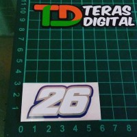 Cutting Sticker 26 6cm Dani Pedrosa