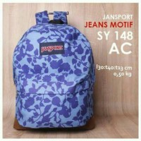 Tas Jansport Jeans Murah Motif AC | Tas Sekolah | Tas Distro