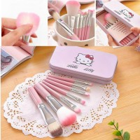 Kitty Blush Kaleng 7 In 1/ Kuas Hello Kitty Set / Make Up Brush