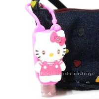 HAND GEL SANITIZER + CASE HELLO KITTY LAMPU LED