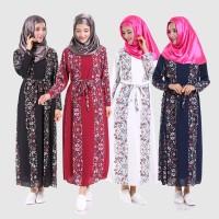 Chloe's Clozette Baju Muslim Dress Kaftan Gamis Lengan Panjang