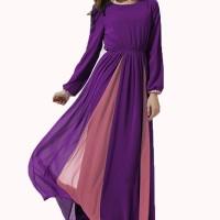 Chloe's Clozette Long Sleeve Muslim Gamis Dress Kaftan