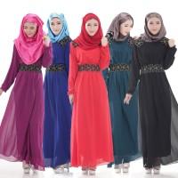 Chloe's Clozette Baju Muslim Dress Gamis Kaftan Lengan Panjang