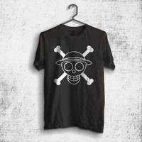 Kaos Luffy one piece logo