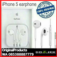earphone handsfree earpod iphone 5 5s 5c 6 6+ ipod ipad 5 ORIGINAL