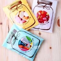 Jual plastik kemasan cookies print botol, kue candy permen makanan souvenir Murah
