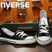 Sepatu casual wanita converse all star made in indonesia hitam