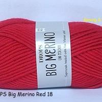 Jual DROPS Big Merino merah - benang rajut impor / import (wool / wol) Murah
