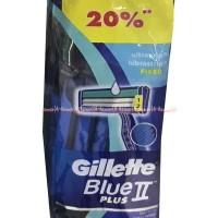 harga Gillette Blue Ii Plus Pisau Cukur Gillete Biru Save 20% Tokopedia.com