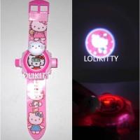 Jam Tangan Anak Laser, Proyektor, Hologram Boneka Hello Kitty Ajp 49