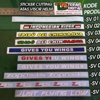 Cutting Sticker untuk atas visor helm