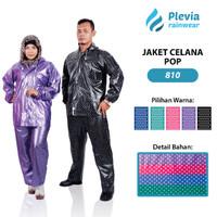 Jual Jas Hujan Jaket Celana Polkadot 810 Plevia Stelan Raincoat Murah Murah