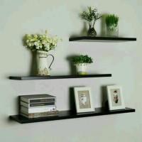 3pcs rak dinding minimalis atau melayang /ambalan /floating shelf