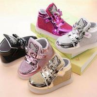 Jual Sepatu Lampu Boot Nyala Anak Hello Kitty Grosir Murah LED Shoes 26-30 Murah