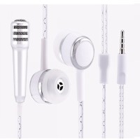 Mini Microphone + Headset Karaoke Smule Video Conference