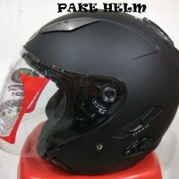 HELM KYT GALAXY SLIDE SOLID HITAM DOFF