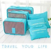 Jual 6 in 1 Traveling Bag in Bag Organizer (1 set isi 6 pcs organizer) Murah