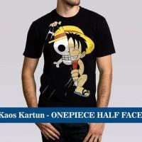 Kaos Distro Baju Murah Anime Film Kartun One Piece Onepiece Half