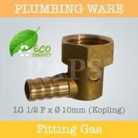 LG 1/2F x 10MM KOPLING (KNEE GAS DRAT DALAM 1/2 INCH)