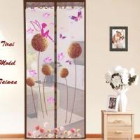 Tirai Model Taiwan Coklat Dandelion (tirai Anti Nyamuk Magnetik )