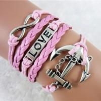 Jual Gelang Korea Import Murah Infinity Anchor Love GKP001 Murah