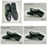 New sepatu Kerja merk CROCODILE Pantofel Kantor Pria Kulit Murah