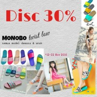 harga Sandal Monobo - Twist Low disc 30% Tokopedia.com