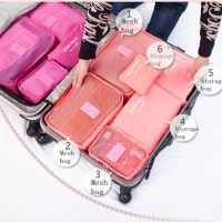 New 6 in 1 Korean Travel Bag in Bag (1 set isi 6 pcs organizer)