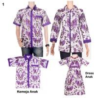 Sarimbit Batik | Batik Couple Keluarga Mega Mendung - Ungu