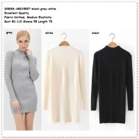 harga Dress Bodycon Baju Rajut Turtleneck Knit Sweater Wanita Korea Import Tokopedia.com