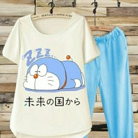 harga BT3000 Blue Celana Sleep Doraemon Set 2in1 Tokopedia.com